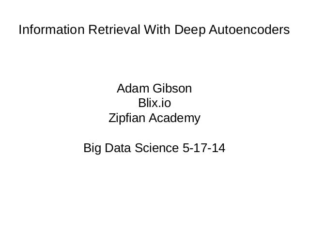 Information Retrieval with Deep Learning
