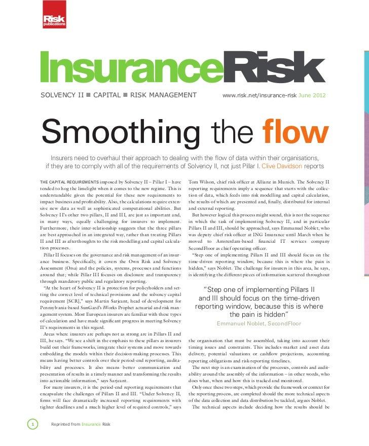 SolvencyII ■capItal ■RISkManageMent                                                     www.risk.net/insurance-risk...