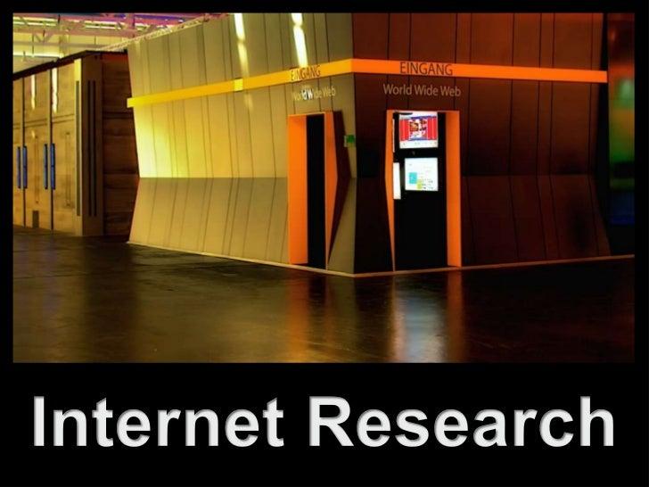 Internet Research Einführungssitzung