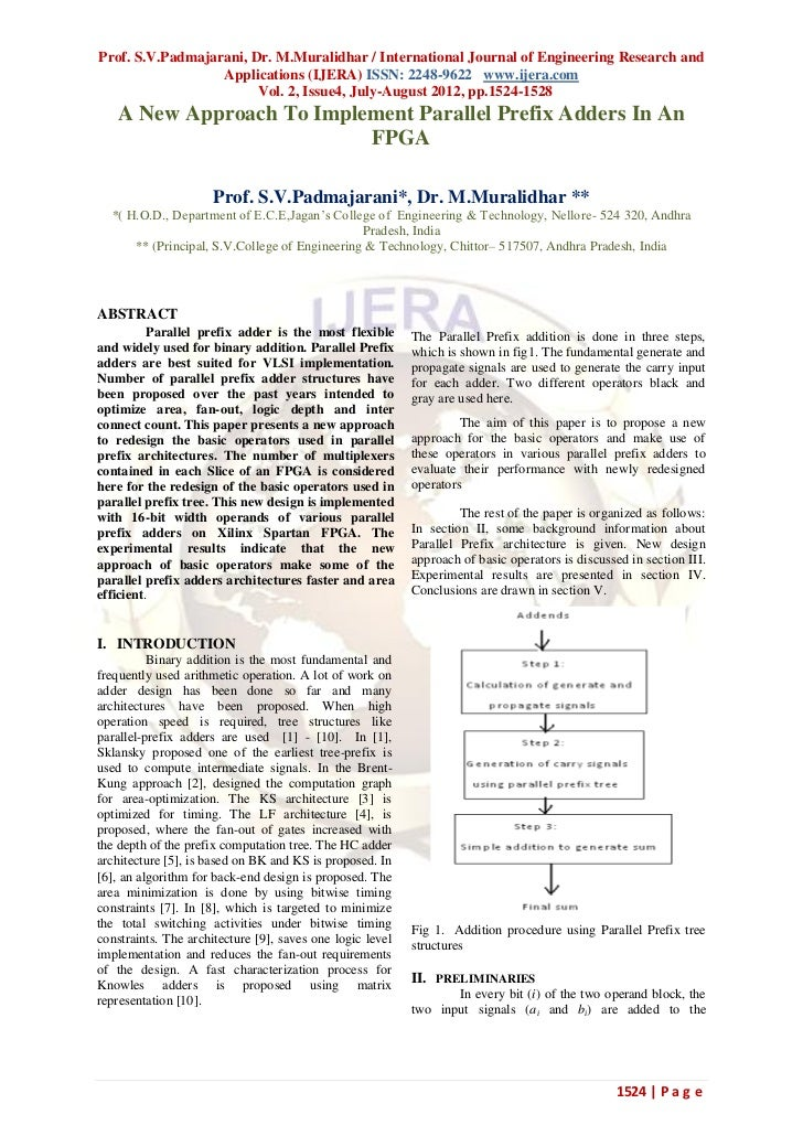 Prof. S.V.Padmajarani, Dr. M.Muralidhar / International Journal of Engineering Research and                  Applications ...