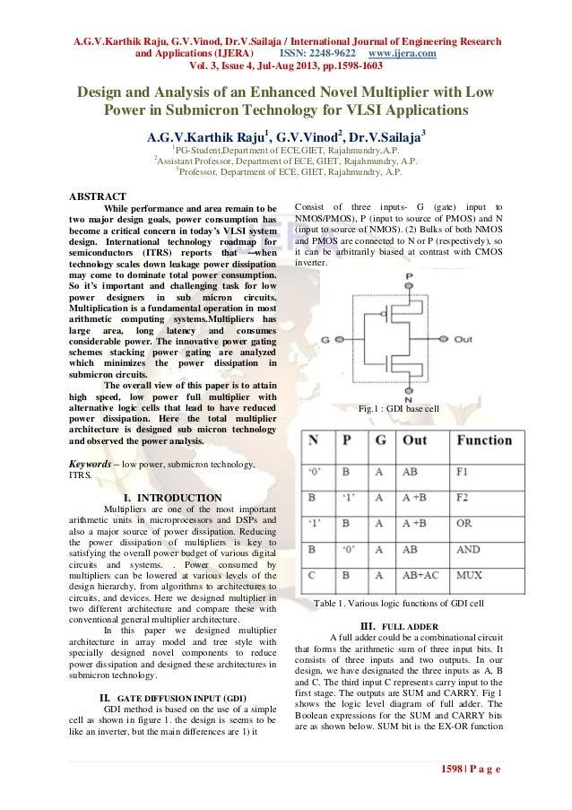 A.G.V.Karthik Raju, G.V.Vinod, Dr.V.Sailaja / International Journal of Engineering Research and Applications (IJERA) ISSN:...