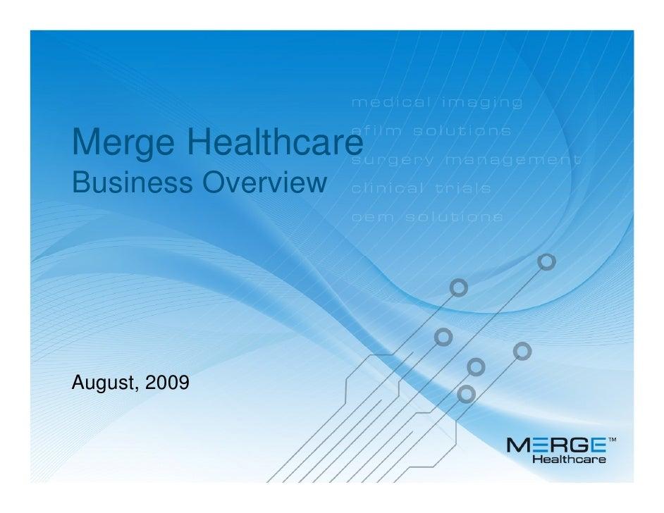 Merge Presentation August 2009
