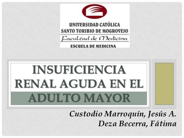 INSUFICIENCIARENAL AGUDA EN EL  ADULTO MAYOR       Custodio Marroquín, Jesús A.              Deza Becerra, Fátima