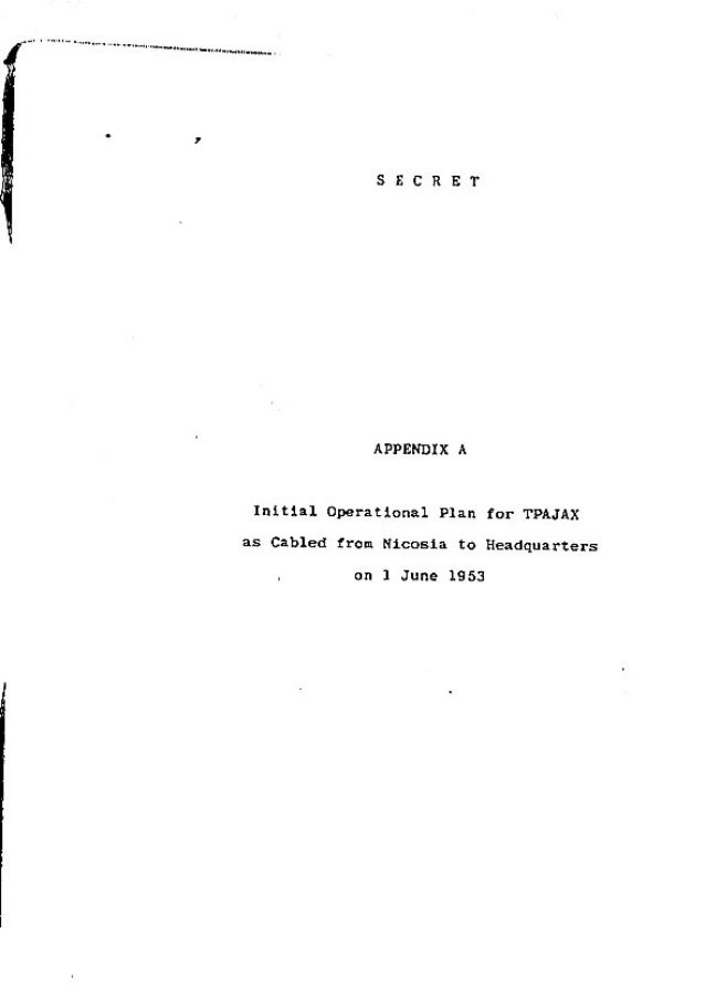 Operation Ajax Declassified PDF Appendix A