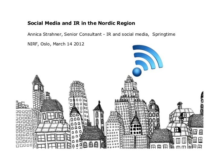 IR and Social Media in the Nordics NIRF 120314
