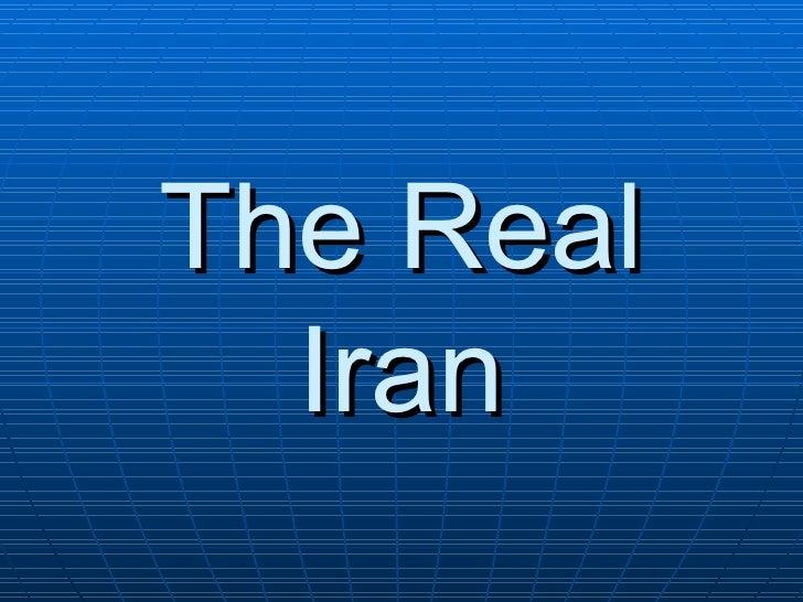 The Real   Iran