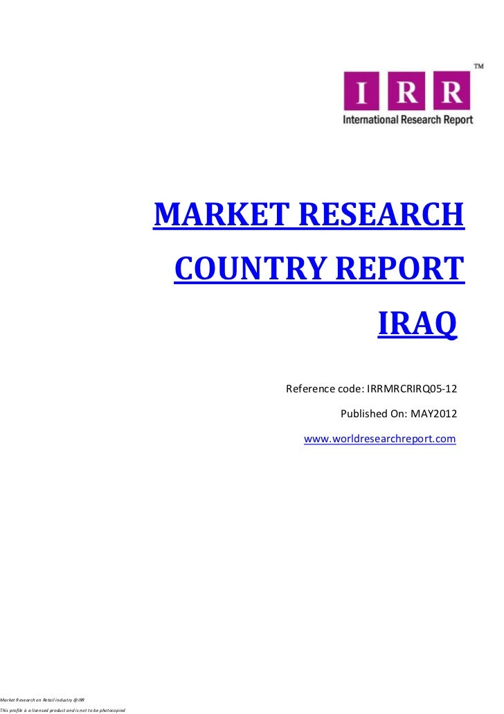 MARKET RESEARCH                                                                   COUNTRY REPORT                          ...