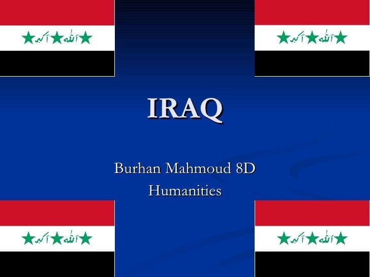 IRAQ Burhan Mahmoud 8D Humanities