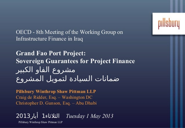 OECD - 8th Meeting of the Working Group on Infrastructure Finance in Iraq  Grand Fao Port Project: Sovereign Guarantees fo...