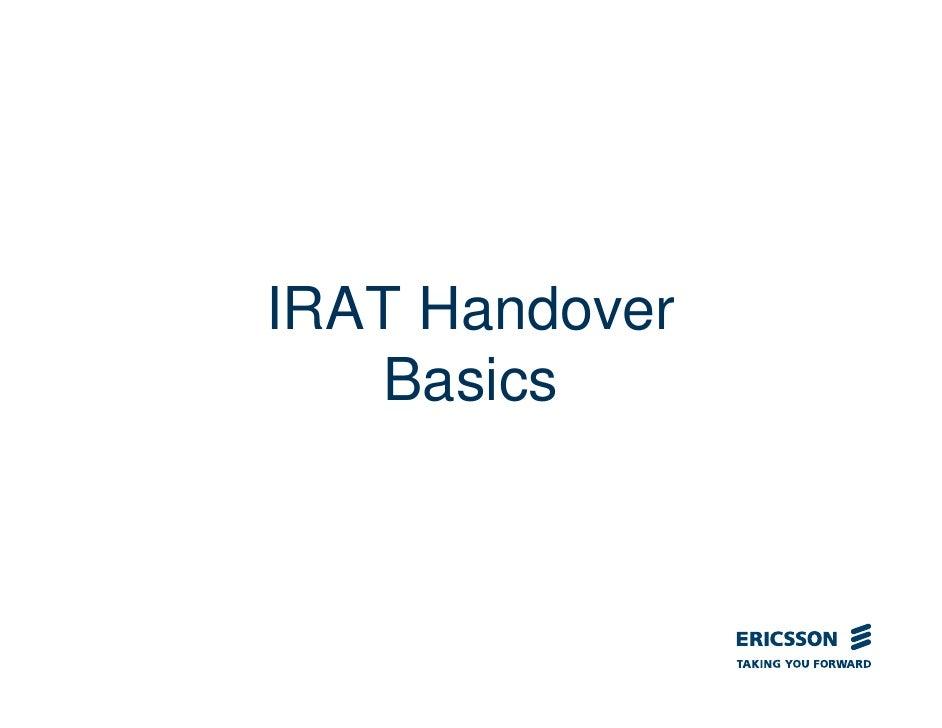IRAT Handover   Basics