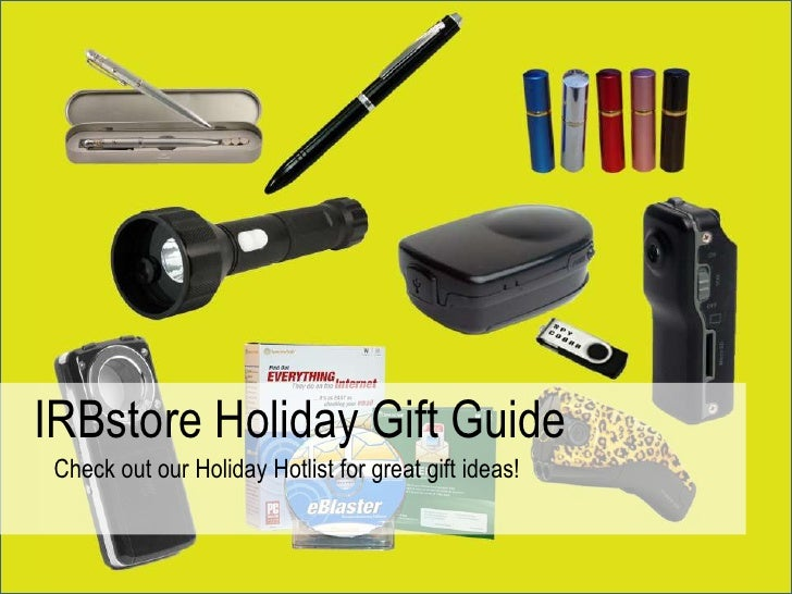 IRBstore Holiday Gift Guide<br />Check out our Holiday Hotlist for great gift ideas!<br />