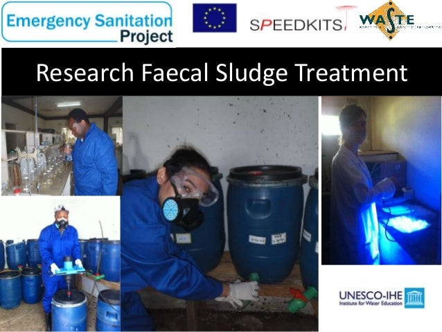Research findings faecal sludge treatment