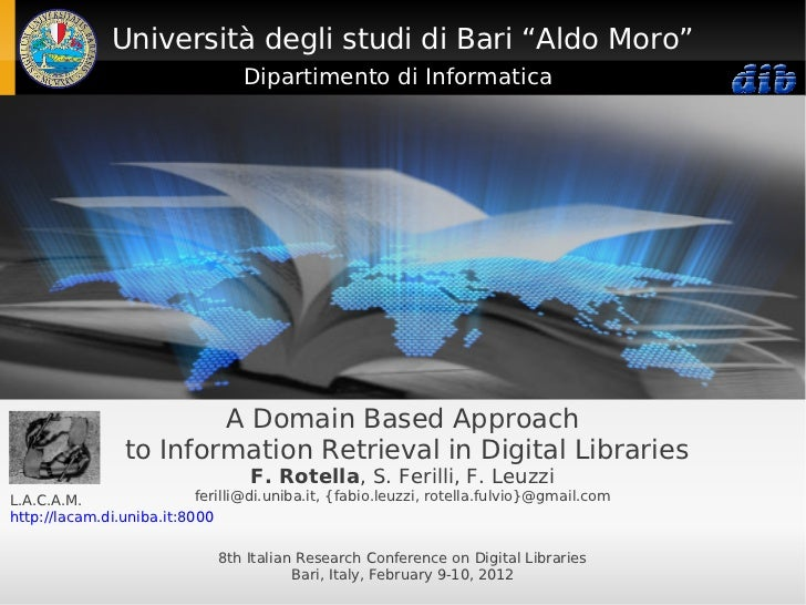 A Domain Based Approach to Information Retrieval in Digital Libraries