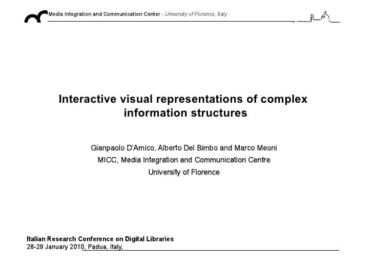 Interactive visual representations of complex              information structures