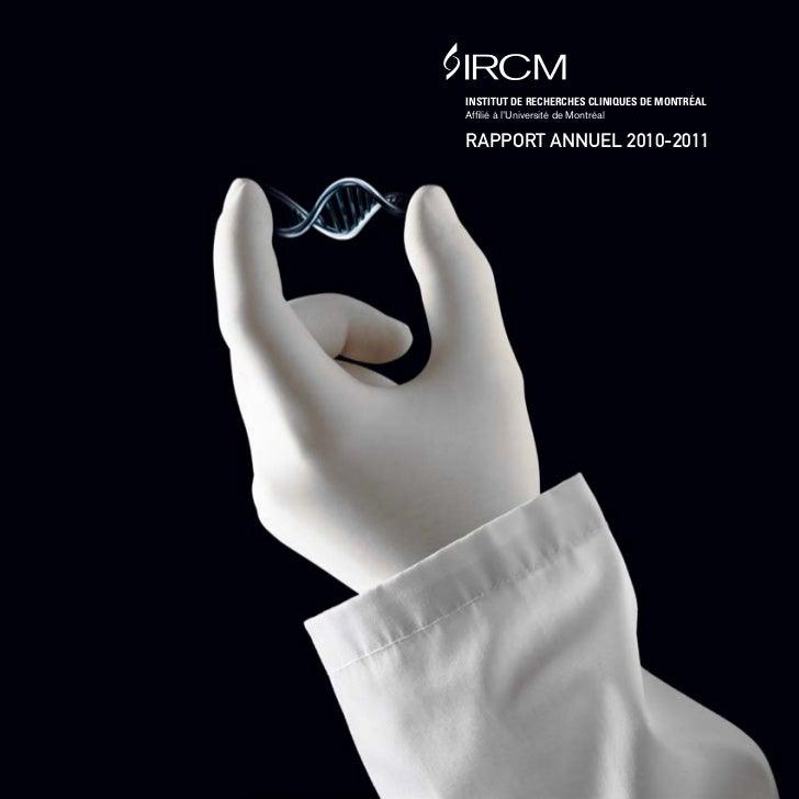 Rapport annuel 2010-2011 de l'IRCM