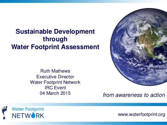 the water footprint assessment manual