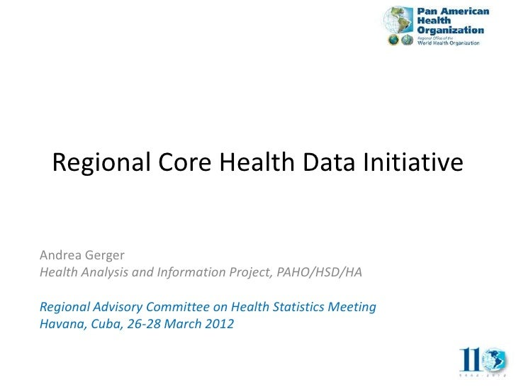 Regional Core Health Data Initiative