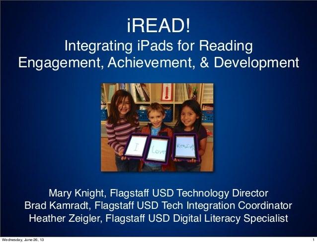 iREAD ISTE 2013 Presentation (Uploaded 1 July 2013)