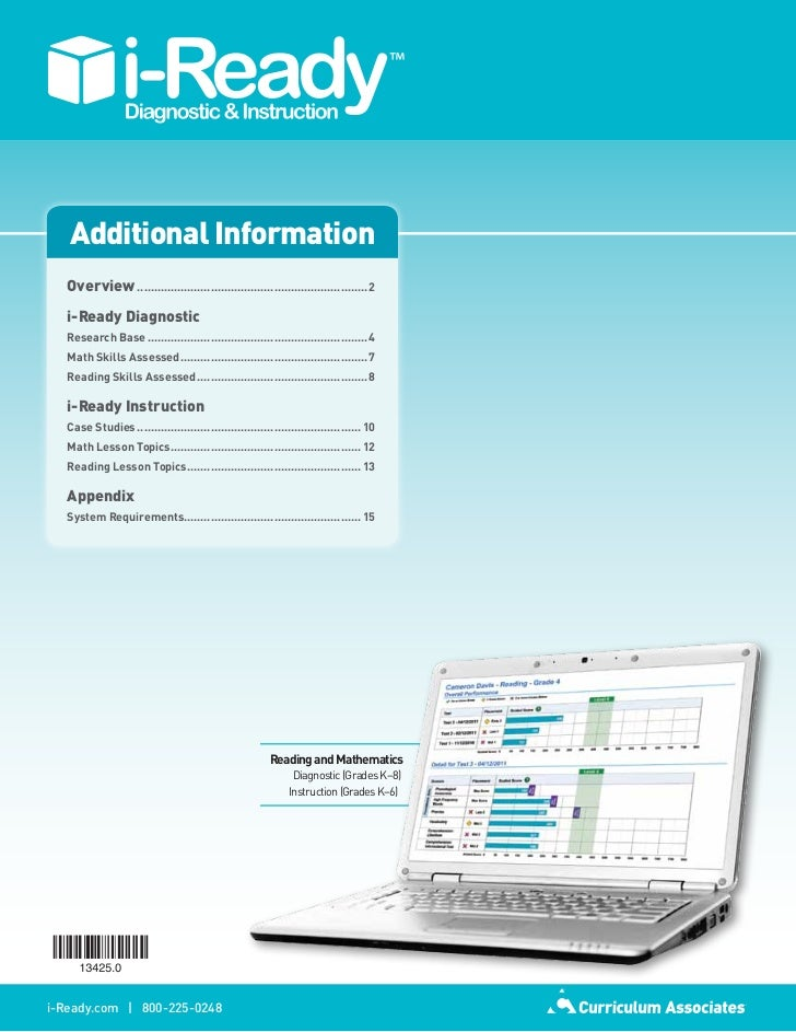 Additional Information   Overview...................................................................... 2   i-Ready Diagno...
