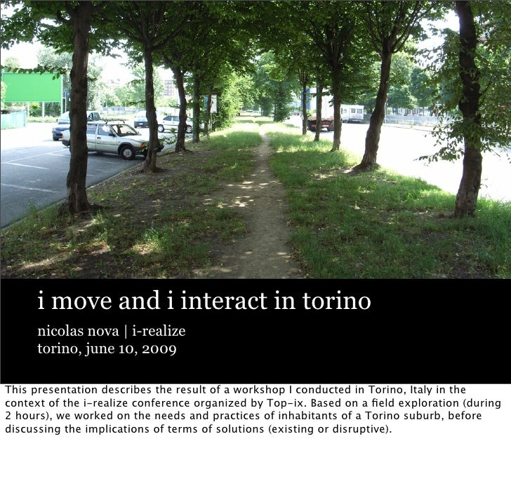 i move and i interact in torino