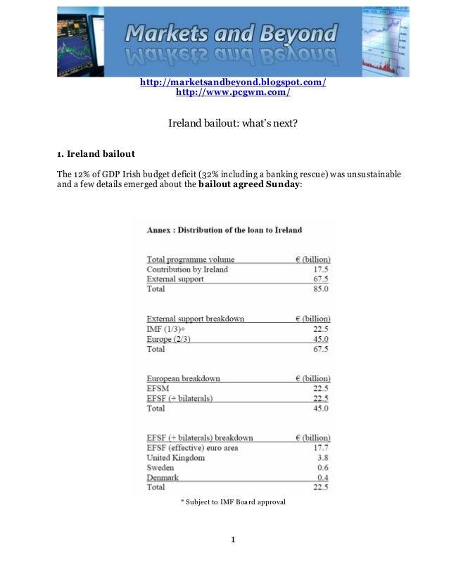 http://marketsandbeyond.blogspot.com/ http://www.pcgwm.com/ 1 Ireland bailout: what's next? 1. Ireland bailout The 12% of ...