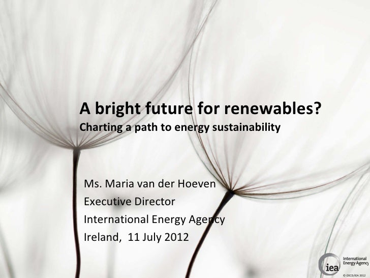 A bright future for renewables? Charting a path to energy sustainability - IEA Ed
