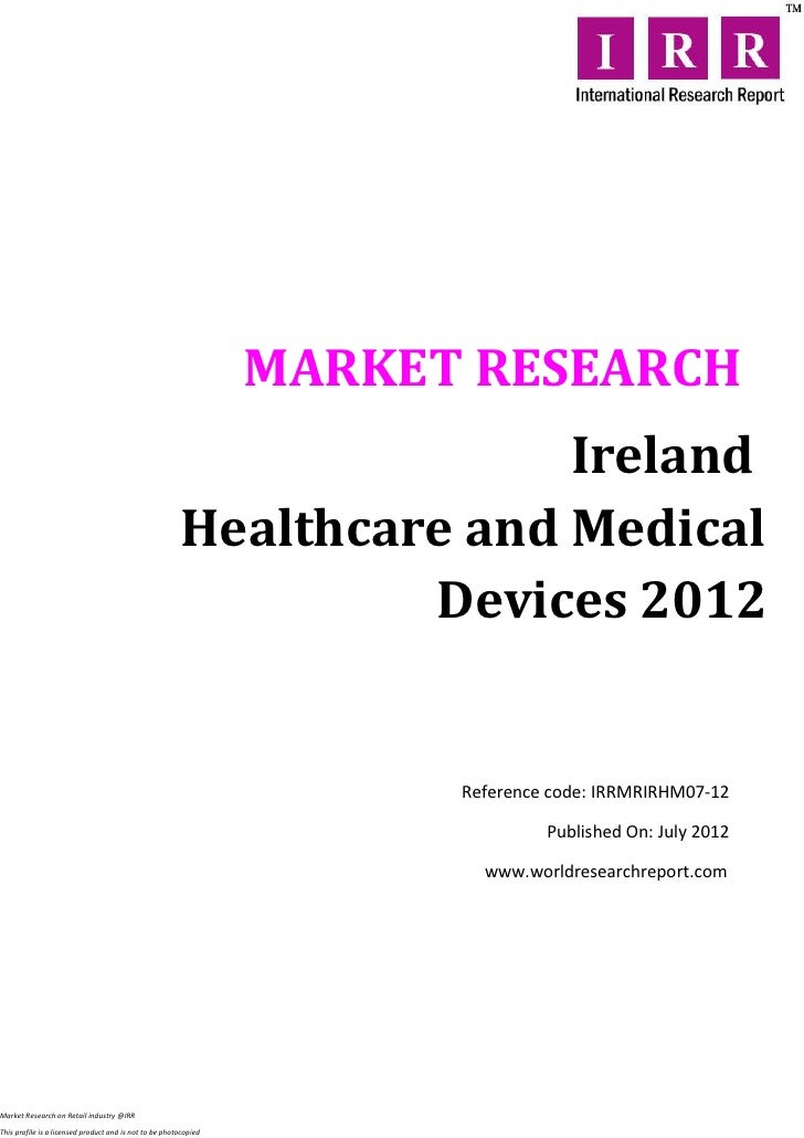 Ireland healthcare and medical devices 2012