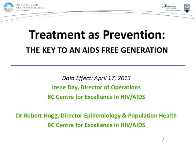 Page 1Data Effect: April 17, 2013Irene Day, Director of OperationsBC Centre for Excellence in HIV/AIDSDr Robert Hogg, Dire...
