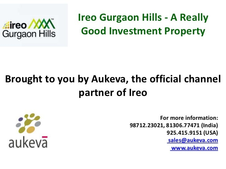 Ireo Gurgaon Hills - A Really Good Investment Property Call 9254159151(US), 9871223021(India)