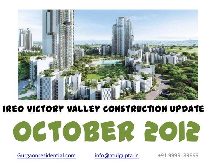 Ireo victory valley construction update oct 2012
