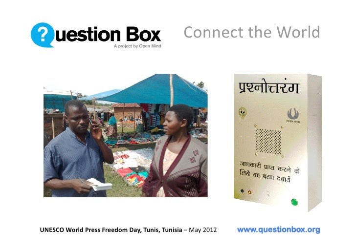 UNESCO World Press Freedom Day Question Box Tunisia May 2012