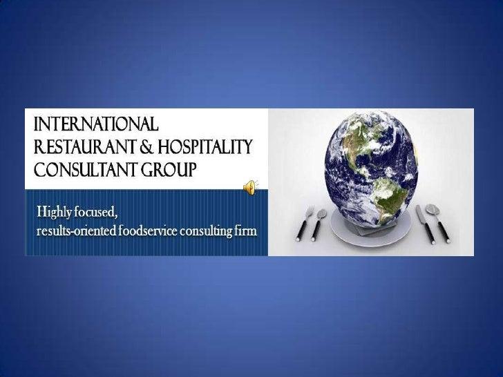IRHC Group,  International Restaurant & Hospitality Consulting Group