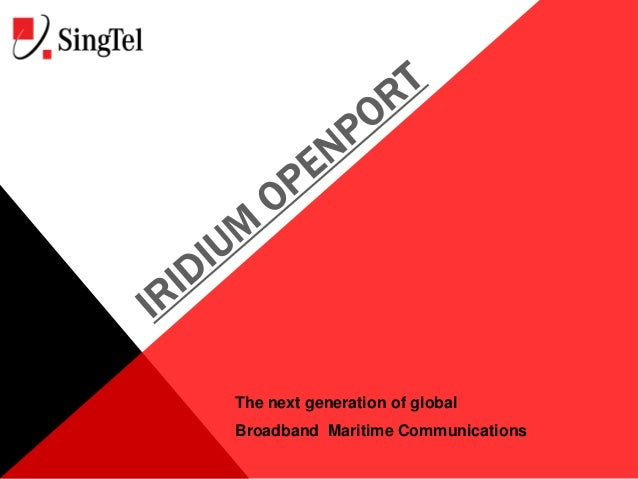 The next generation of global Broadband Maritime Communications