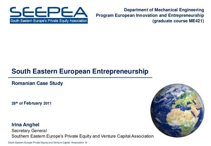 Irina Anghel - SEEPEA - Entrepreneurship VC Romania - Stanford - Feb 28 2011