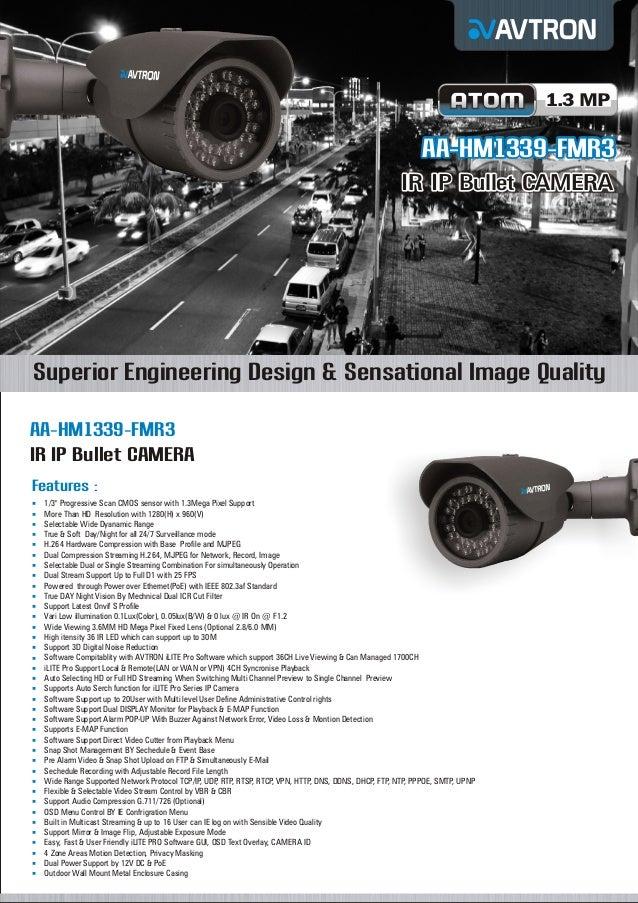 1.3 MP  AA-HM1339-FMR3 IR IP Bullet CAMERA  Superior Engineering Design & Sensational Image Quality AA-HM1339-FMR3 IR IP B...