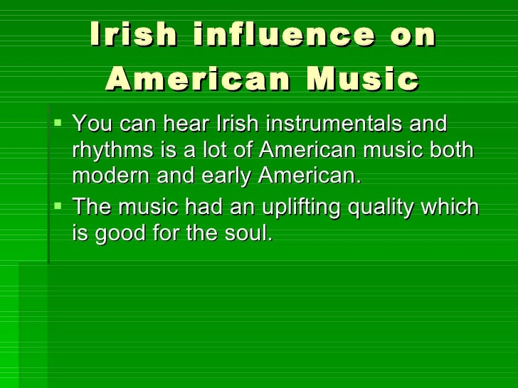 Music's influence on us?