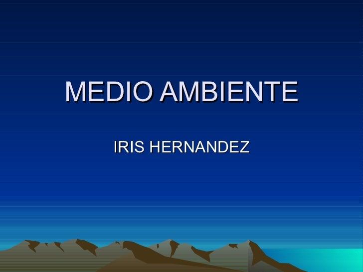 MEDIO AMBIENTE IRIS HERNANDEZ