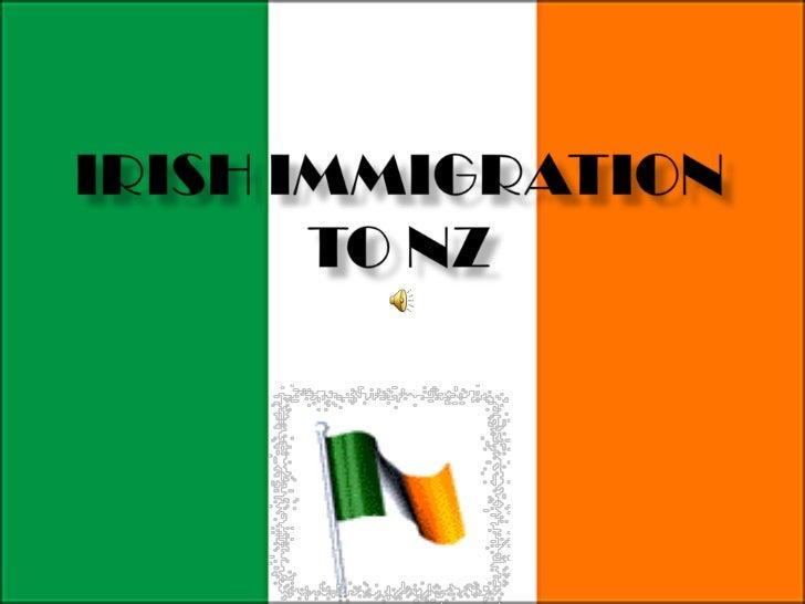 Irish Immigration to NZ<br />