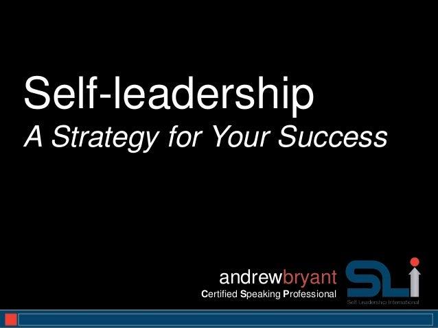 Self Leadership for Success