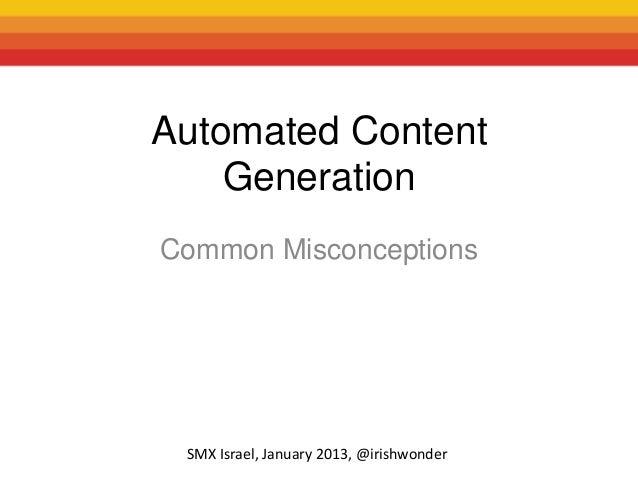 Irish wonder automated content smx israel