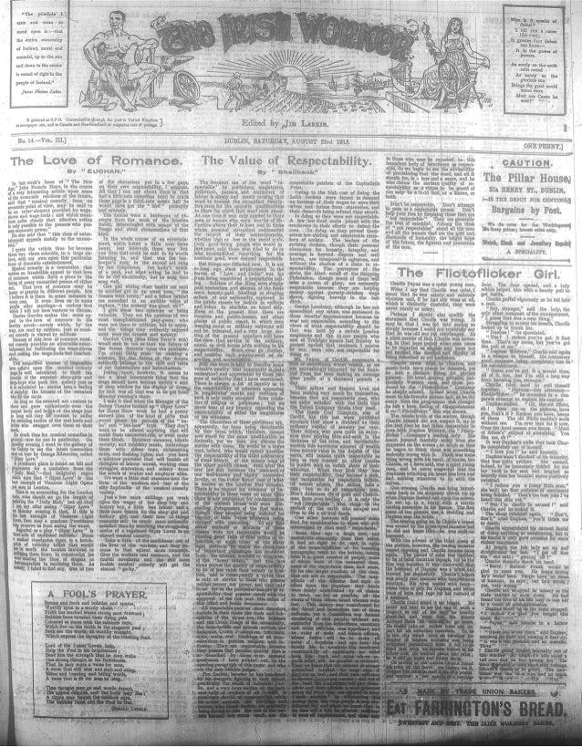 Irish Worker 23 August 1913