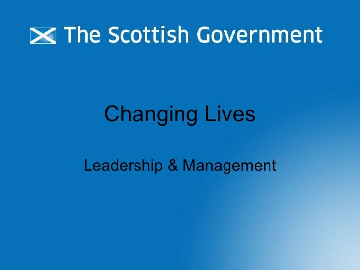 Changing Lives Leadership & Management