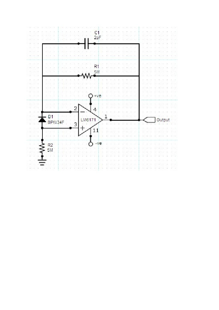IR laser pulse detector using photodiode and op-amp