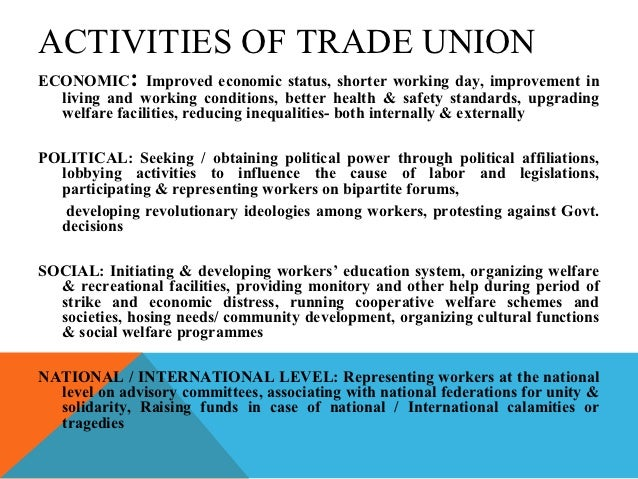 influence of trade unions on collective bargaining Collective bargaining structures often influence foreign direct investment in this  support from the australian council of trade unions (actu), the industrial.