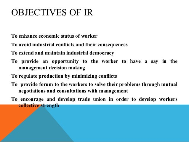 industrial relations employee relations Define employment relations, distinguish between the terms industrial relations and employee relations and identify the different.