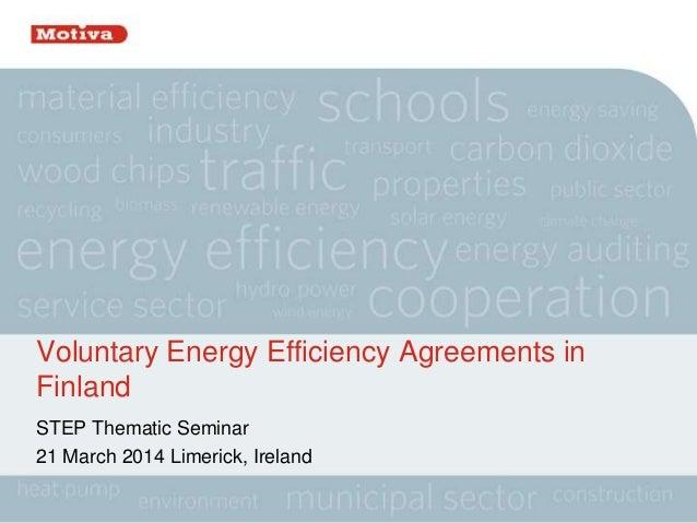 "Irmeli Mikkonen. ""Voluntary tools for increasing energy efficiency"""