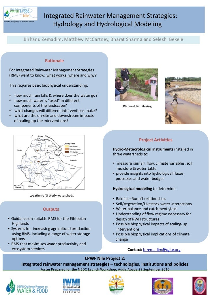 Integrated Rainwater Management Strategies:                                                      Hydrology and Hydrologica...