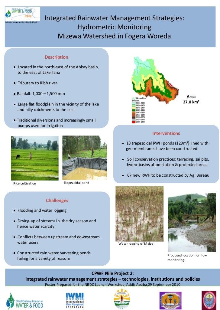 Integrated rainwater management strategies: Hydrometric monitoring Mizewa Watershed in Fogera Woreda