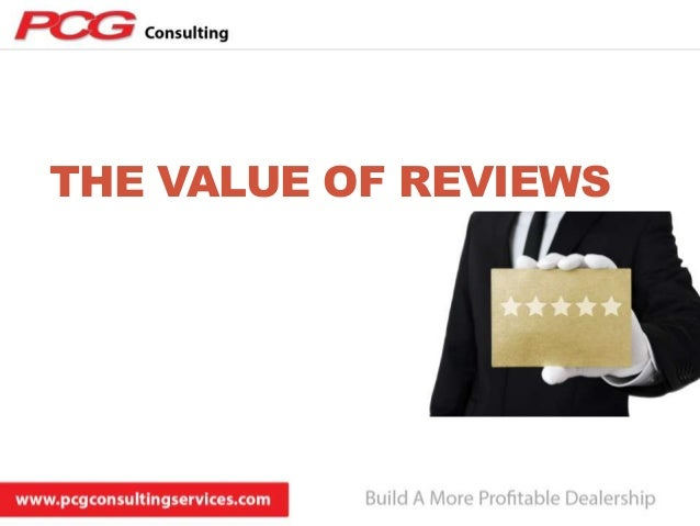 THE VALUE OF REVIEWS