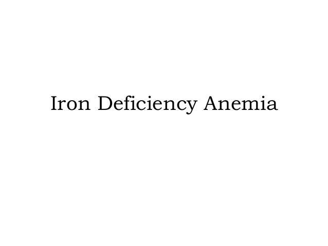 Iron Deficiency Anemia